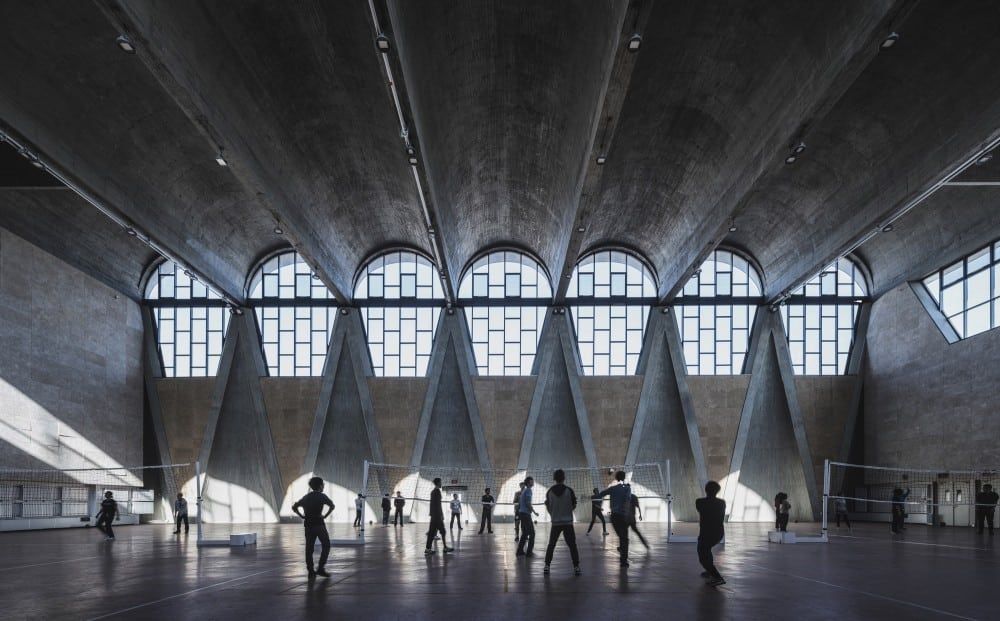 Gymnasium of the New Campus of Tianjin University, China by Atelier Li Xinggang