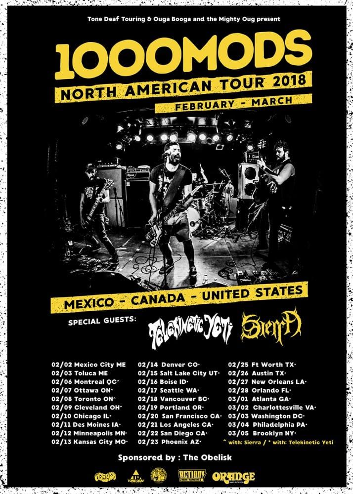 1000mods us tour - poster
