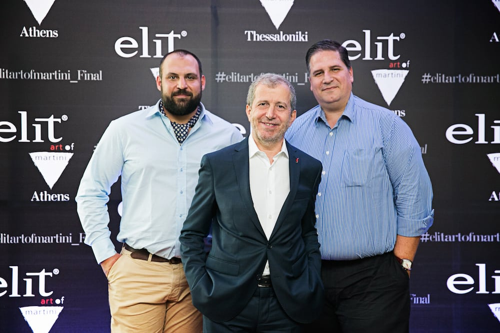 Οι κριτές του διαγωνισμού Elite Art of Martini Αλέξανδρος Πρεβίστας, Ανδρέας Ματθίδης και ο Πάνος Δεληγιάννης