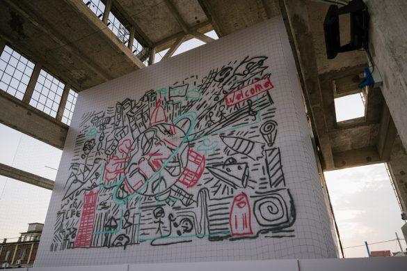 Το πρώτο συνεργατικό graffiti έγινε με την συμβολή 4 drones!