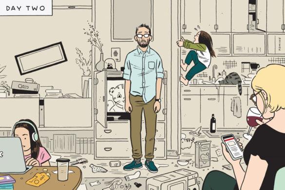 Illustrators απ' όλο τον κόσμο μοιράζονται καλοσχεδιασμένες σκηνές από τις άδειες πόλεις τους.